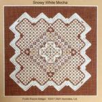 Snowy white mocha, Hardanger with openwork