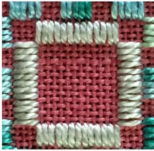 13-stitch, four-sided