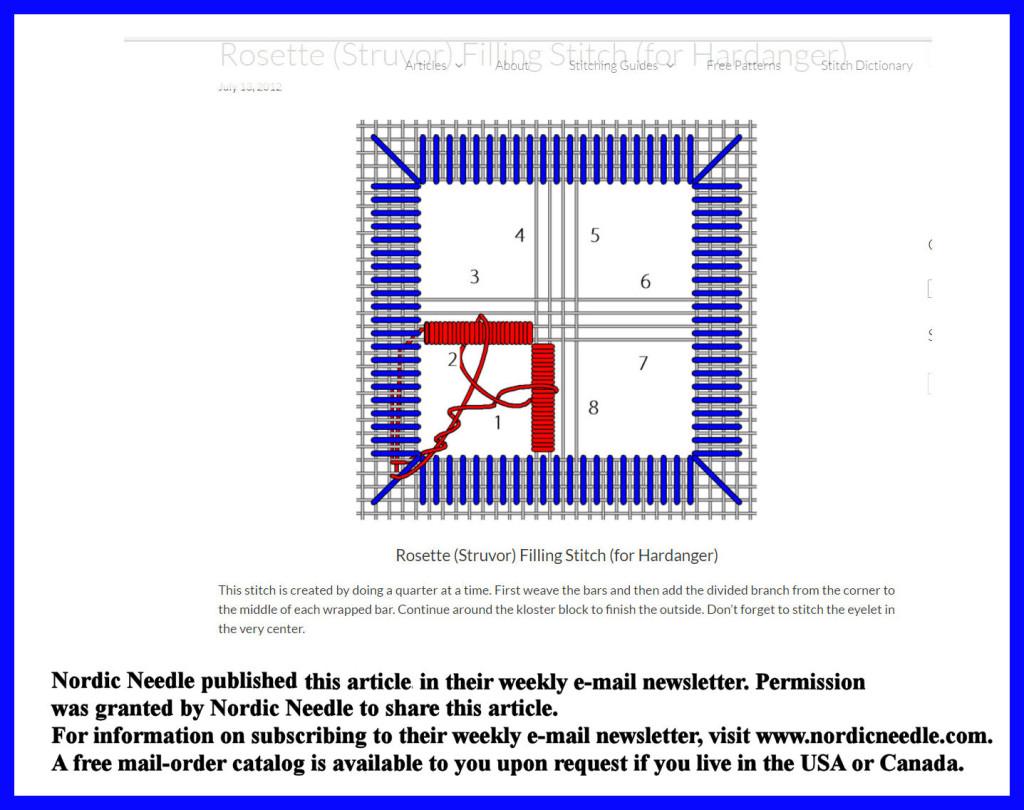 Nordic Needle Rosette