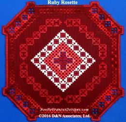 Hardanger Ruby Rosette
