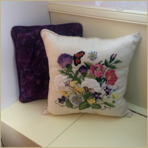 Nantucket Wildflowers pillow