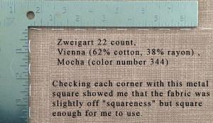 Fabric squareness