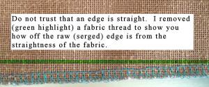 Cut edge not straight