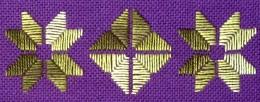 Hardanger satin stitch