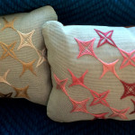 Starburst design: Rhodes stitch style embroidery