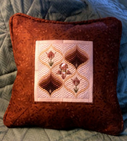 Tulips and Pomegranates Bargello - 13 inch pillow
