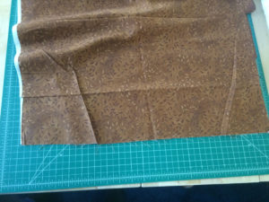 Cut end of the fabric.