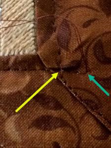tying off stitching threads