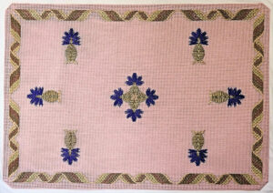 Ribbon and Thistle Flowers, mat size.